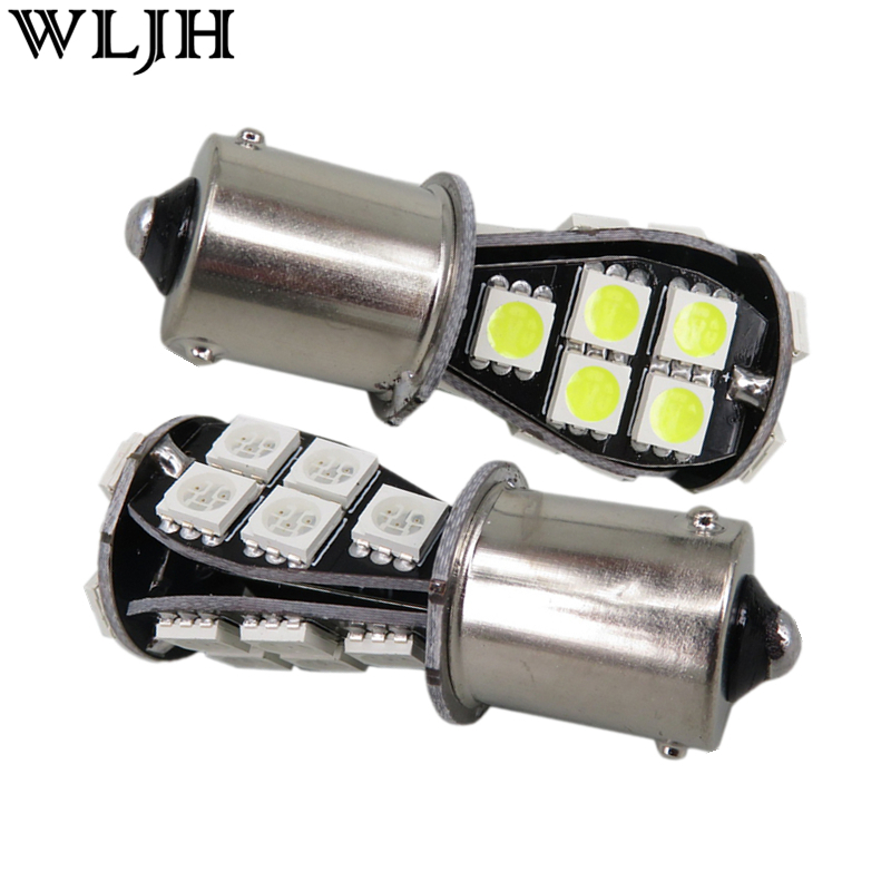 WLJH 2pcs Canbus No Error Led BAU15s PY21W 7507 581 1156PY 5050 Chip 21 SMD 12v Lamp Auto Car LED Front Turn Signal Light Bulbs 2pcs brand new high quality superb error free 5050 smd 360 degrees led backup reverse light bulbs t15 for jeep grand cherokee