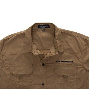 Image 4 - MAGCOMSEN erkek gömlek sonbahar uzun kollu pamuk kargo gömlek rahat elbise gömlek erkekler askeri ordu taktik kentsel iş gömlekleri