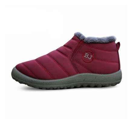 2018 г. Новая женская зимняя обувь однотонные зимние ботинки нескользящая подошва из хлопка, сохраняющие тепло водонепроницаемые лыжные ботинки размер 44