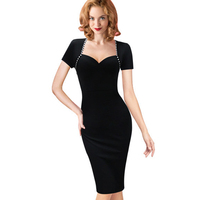 Women Summer Casual Office Sheath Dress Striped Bodycon Pencil Party Dresses Ladies Formal Work Knitting Clothes