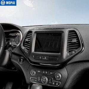 Image 5 - MOPAI ABS Автомобильная внутренняя панель навигационная панель GPS декоративная рамка наклейки для Jeep Cherokee 2014 Автомобильный Стайлинг