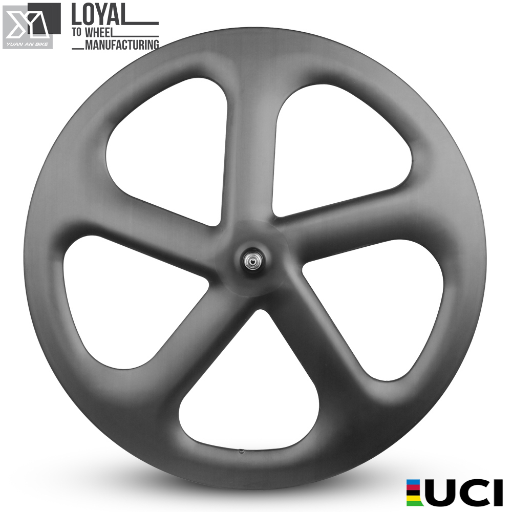 700c carbon <font><b>5</b></font> <font><b>spokes</b></font> <font><b>wheels</b></font> 3K/UD matte or glossy finishing road hub Chinese OEM <font><b>wheels</b></font> image