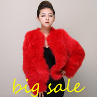 Plus Size 4XL 5XL Winter Sexy Women Mink Fur Rabbit Fur Coat Ladies Pink White Faux Fox Fur Jacket Fur Bolero Short Red Coats