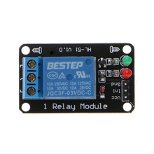 1PCS 1 Channel 3V Relay Module 3.3V Low Level Shooting with Lamp 1pcs 3 3v 1 channel 3v relay module optocoupler isolation low level trigger relay module