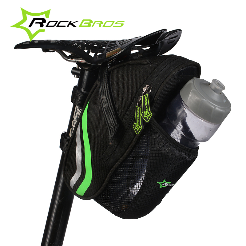 RockBros Cycling Riding Portable Folding Bike font b Bicycle b font Tail Rear Seatpost Saddle Bottle