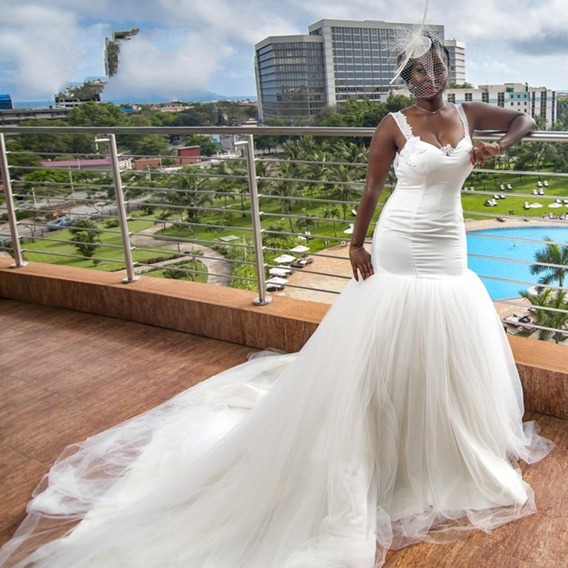 Y African Wedding Dresses 2017 New Long Mermaid Chapel Train Backless Lace Bride Bridal Dress Custom Made Gowns In From Weddings