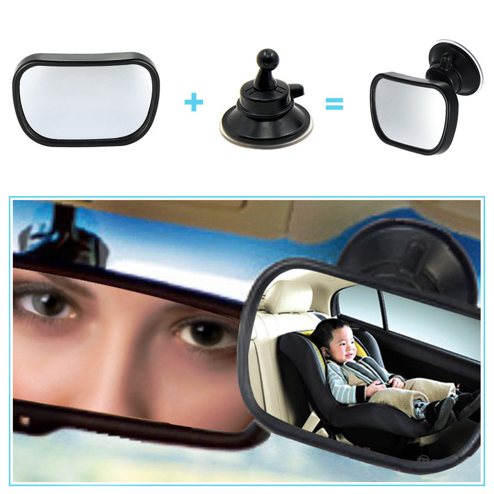 2 in 1 Mini Safety Car Back Seat Baby View Mirror Verstelbare baby Convexe spiegel achter Auto Baby Kids Monitor