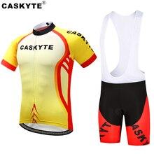 Мужские наборы для велоспорта Джерси с коротким рукавом летняя одежда для велоспорта Pro Team New Yellows