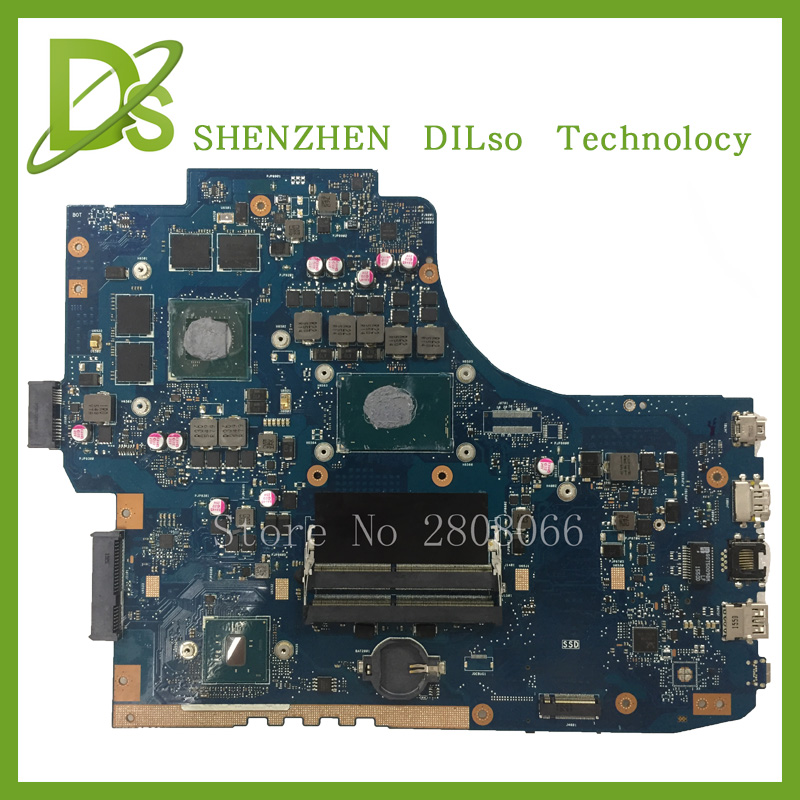 For ASUS GL752VW Laptop motherboard GL752VW mainboard REV2.1 i7 CPU onboard with graphics card 100% tested freeshipping for asus x550lc laptop motherboard with i5 4200u cpu rev 2 0 mainboard fully tested