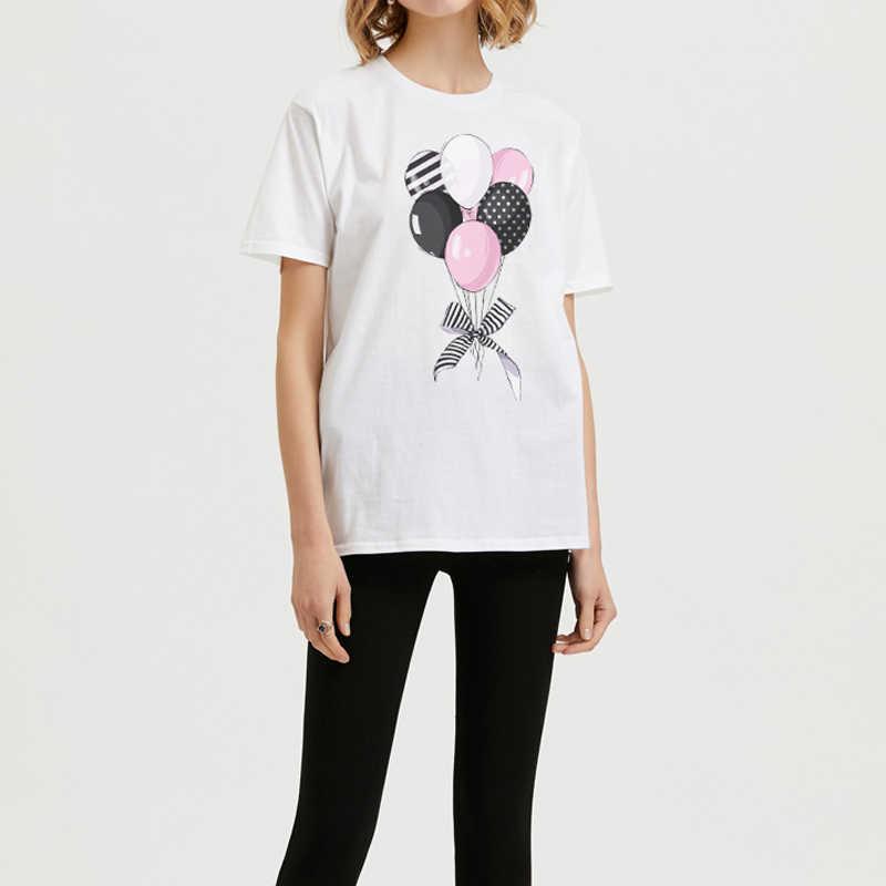 ZSIIBO Vogue Футболка женская одежда костюм для девочек девушка сила печати Лето короткий рукав Харадзюку футболки 2T-2XL большой размер CX6L215