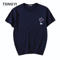 Tsingyi New Summer 5XL Casual Character Shark T Shirt Men 100% Cotton O-Neck Short Sleeve Camiseta Tee Shirt Homme Asia Size 981