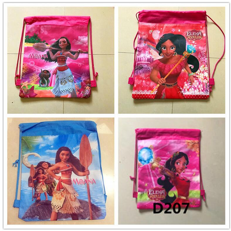 1pcs Moana Bag Birthday Party Gift Backpack Drawstring Elenaof Avalor Favors Bags