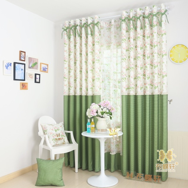 Lace Bedroom Window Curtains Polka Dot Drapes Panel For Living ...