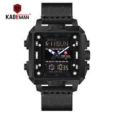 KADEMAN New Square Watch Men TOP Brand Luxury Dual Display Wrist Watch Waterproof Sports Military Male Watches Relogio Masculino цены онлайн