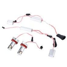 2 unids LED Angel Eye Halo de Luz No Error H8 07-11 para BMW 328i 335i M3 E93 E89 Z4 Nuevo Caer gratis