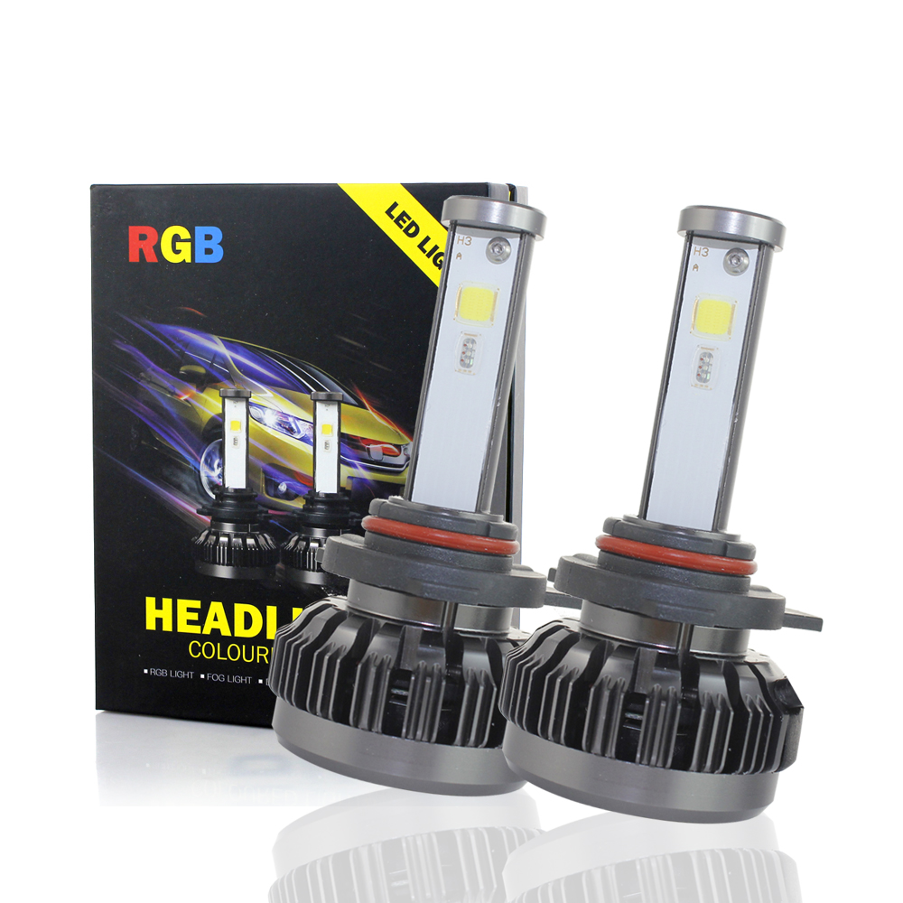 цена на 2Pcs H7 LED Bulb Car Headllight H4 LED H1 H3 H11 HB3 HB4 9005 9006 9007 40W 6000LM 6500K Fog Light 12V 24V Auto Headlamp Lamps