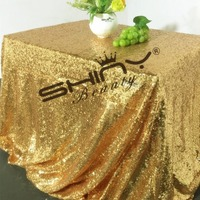 90x120in Gold Sequin Tablecloth Table Linens For Wedding Birthday EveningBest Decoration