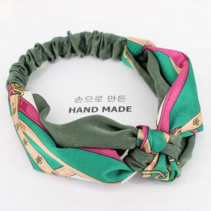 1pcs Women Headband Head Scarf Girls Hairband Knot Design Ladies Headbands Elastic Twist Turban Headwrap Hair Accessories