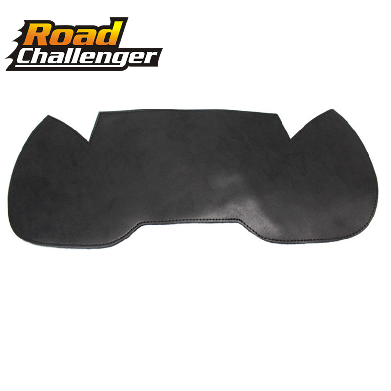 Black Plain Leather Thigh Saddle Shield Heat Deflectors Part For Suzuki For Kawasaki For Harley Touring Softail Motorcycle