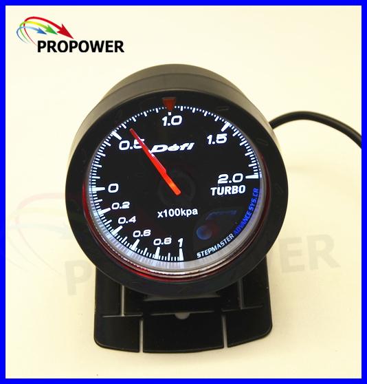 """2.5 """"60 MM DF Avanço CR Medidor Turbo Boost Medidor de Calibre-1-2BAR Cara Preta Com Turbo Sensor/MEDIDOR de AUTO"""