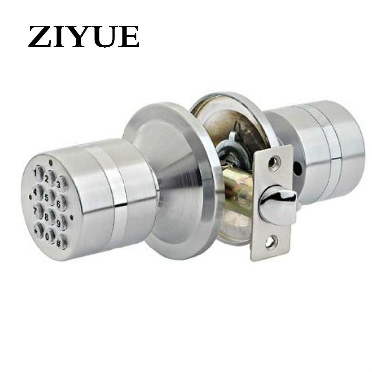 Free Shipping Spherical Electronic Lock, Intelligent Door Lock Standard Single Lock Tongue Replaceable Spherical Mechanical Lock