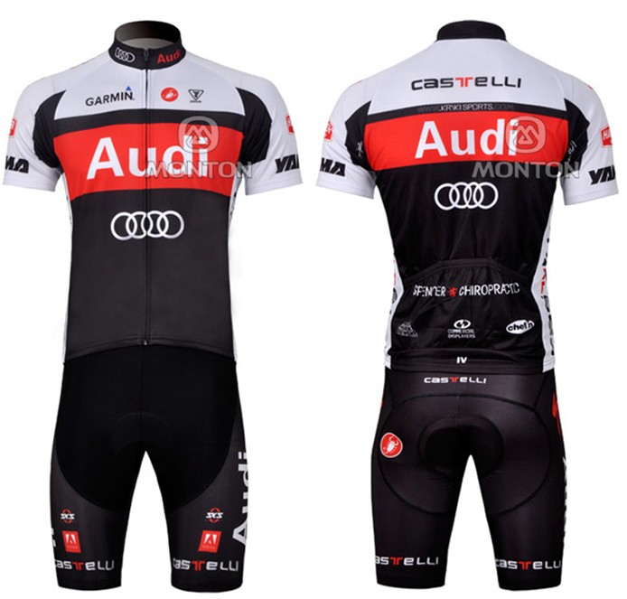2015 AUDI Men Summer Cycling jersey Short Sleeve Lycra Road Mountain Bike  Clothing Bicycle Jersey ropa ciclismo 0d245a60b