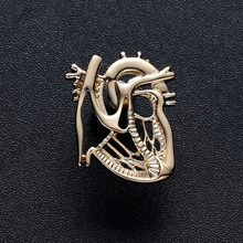 New Heart Shape Brooch Pin Gold Silver Plated Jewelry Gift Nurse Medical Christmas Pin Badge Jewelry Metal Pins Men Accessories(China)