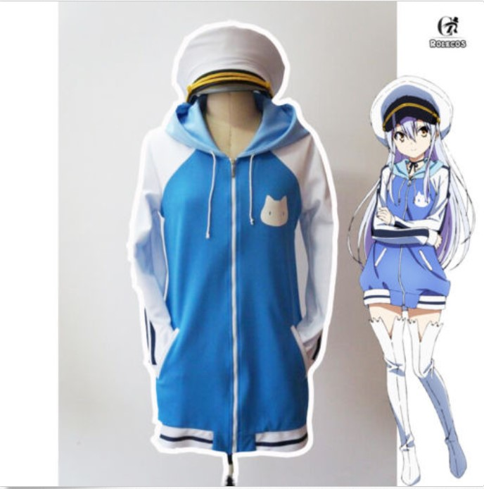 ISLAND Rinne Ohara Outfit Hooded Coat Cosplay Sweatshirt Costume Hoodie Hat Set