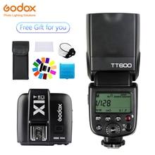 Godox TT600 Speedlite Flash Wireless 2.4G+X1T-C Transmitter Wireless Flash Trigger photography for Canon  1100D 1000D 7D 6D 60D цена 2017