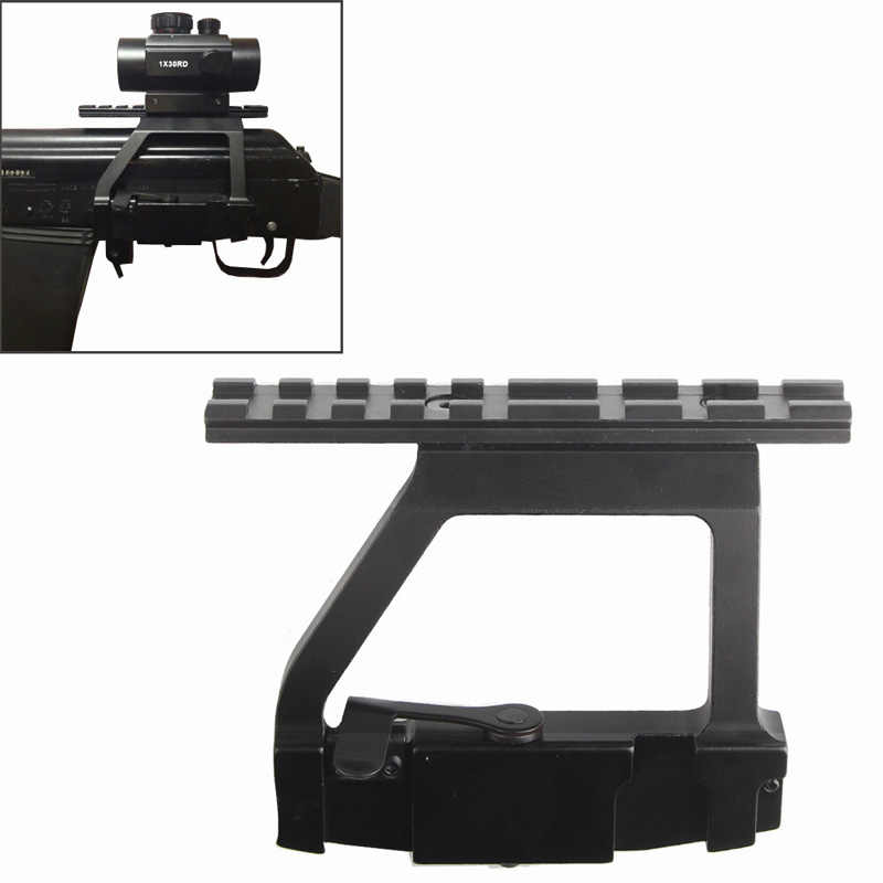 "AK 74 סגנון 20 מ""מ לנתק את מסילת רכבת צד הר מהיר QD טקטי היקף נעילת הר בסיס אקדח אביזרי AK 47 74U RL2-0022"