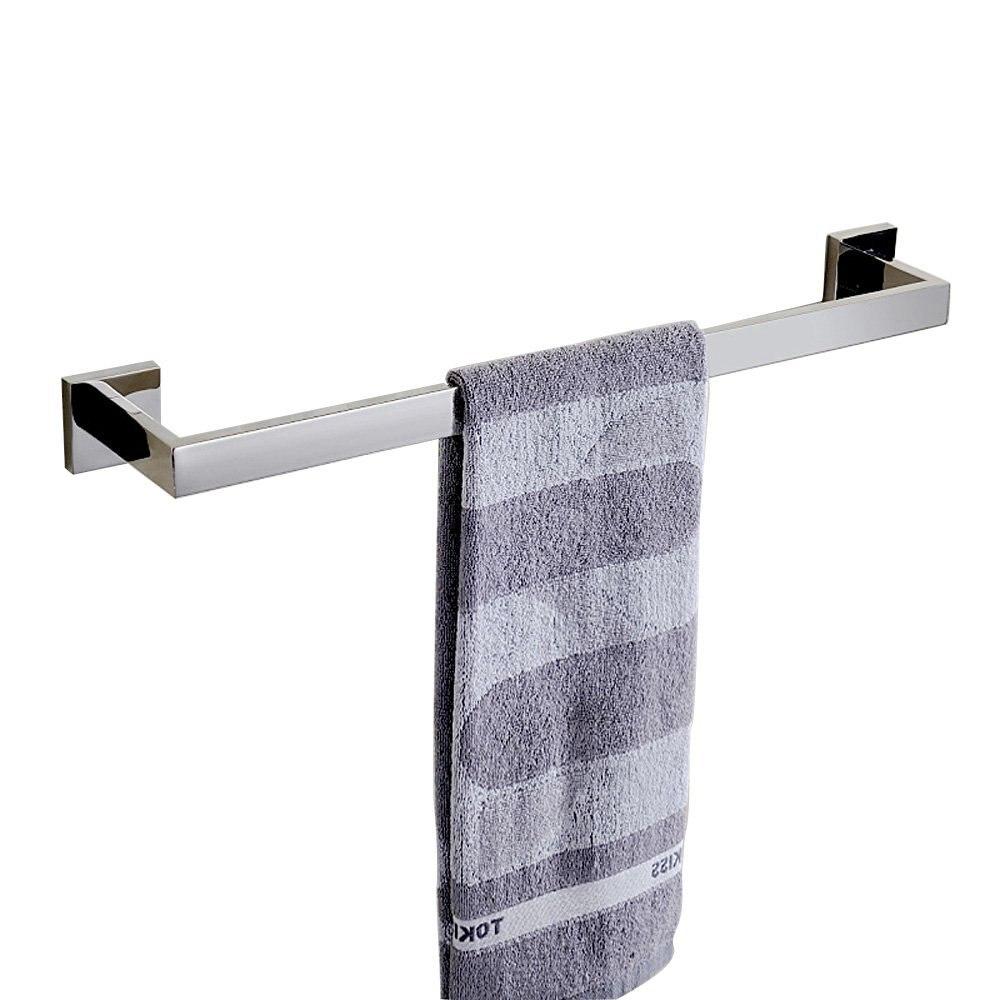 Porte-serviettes simple Chrome Style contemporain porte-serviettes produits de bain en acier inoxydable accessoires de salle de bain murauxPorte-serviettes simple Chrome Style contemporain porte-serviettes produits de bain en acier inoxydable accessoires de salle de bain muraux