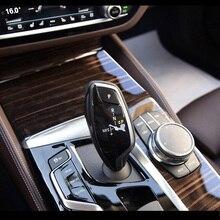 цена на Car Interior Trim Dashboard CD Panel Clear Paint Protective Bra Film Stickers for BMW 5 Series 525i 530i 540i G30 G31 2018