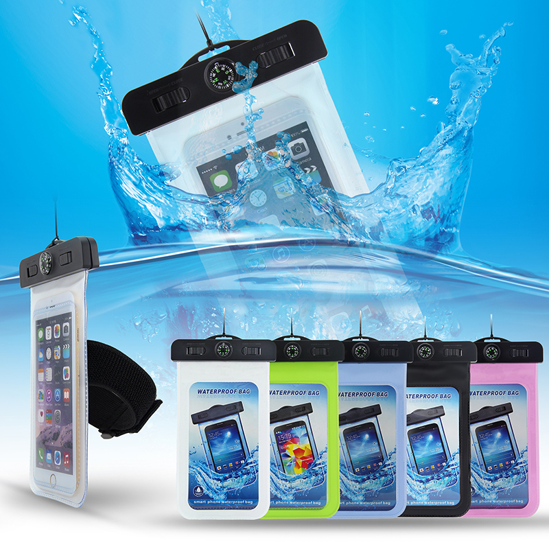 Waterproof Pouch For iPhone 8 8plus 7 7plus 6 6plus X SAMSUNG S8 S8PLUS S9 S9PLUS ...