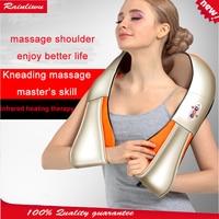 Massage shawl Neck Massager Red light Heating kneading massage cap Car home health care instrument Full body massage device