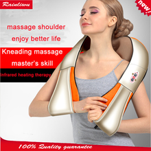 Neck Massager Red-light Heating kneading massage shawl Car home health care instrument Chinese body massage device