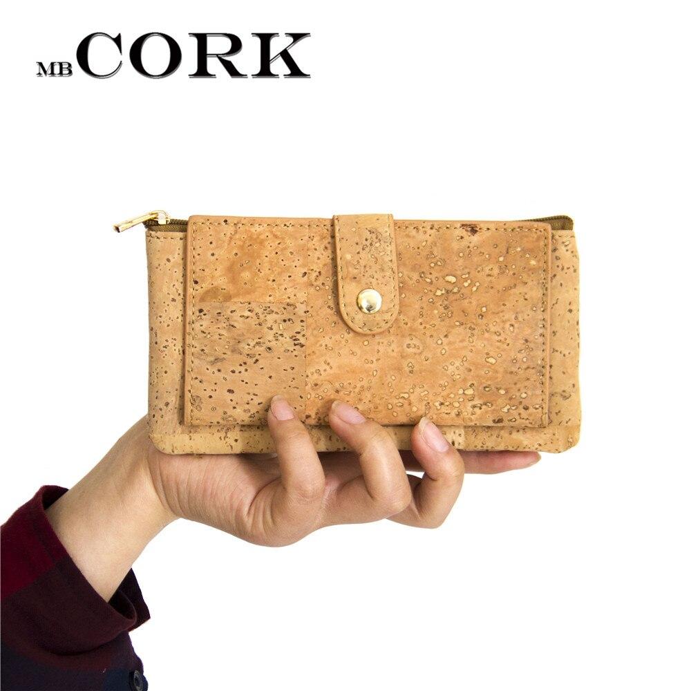 Natural cork zipper wallet women vegan wallet card holder Cork-leather,money clips handmade from Portugal BAG-251