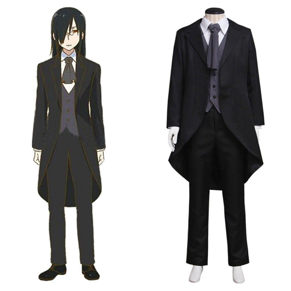 Kobayashi san Chi pas de femme de chambre Dragon adulte Fafnir Cosplay Costume pour hommes Anime Costume veste noire ensemble complet sur mesure