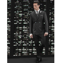 Custom Men's suits, Made Men suits  handsome Wedding Suits Double Breasted Men Suits Notched Lapel (Jacket+pants)