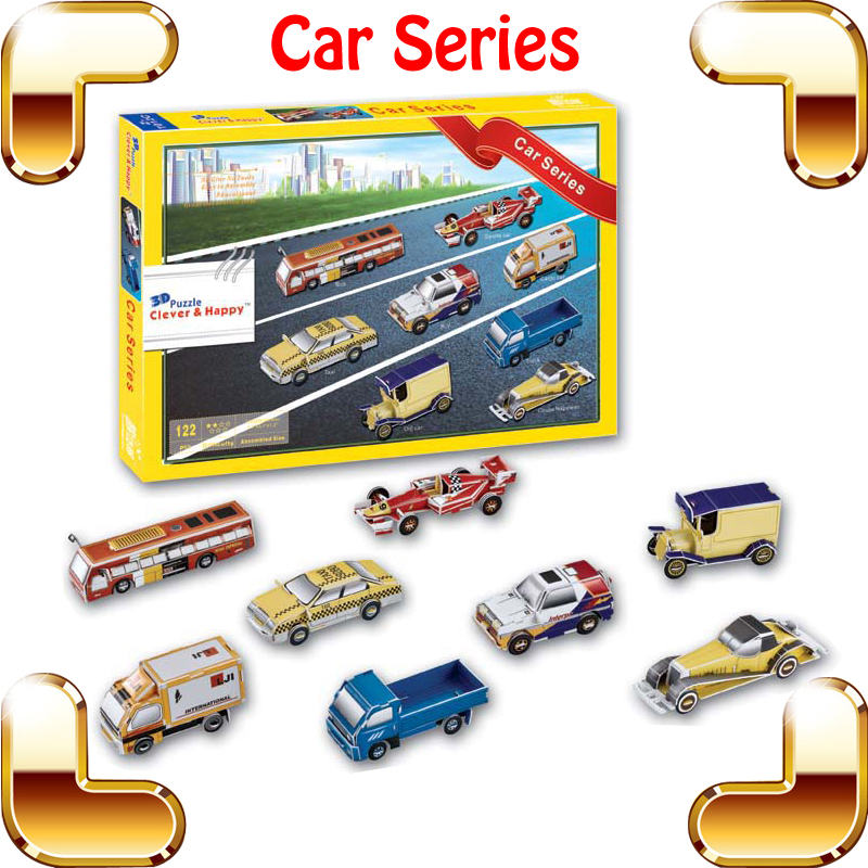 New Year Gift Car Series 3D Puzzle Model Cars For Education Learning Handmade DIY Game Logical Tool For Children Funny Toy