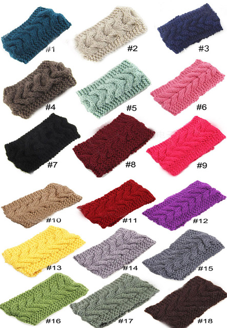 US $10 17 19% OFF|2014 New 18 colors Women Crochet Headbands girls Winter  Knitted Headwraps Fashion Accessory Turband Headband for Girls Teens on