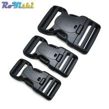 1pcs Plastic Dual Adjustable & Security Double Lock Buckle for Tactical Belts Black