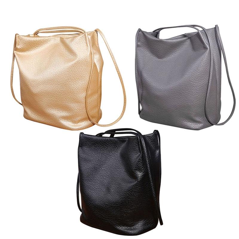 Модные Дамские туфли из PU искусственной кожи сумки ведро Сумки на плечо крест Для тела Сумки большой Ёмкость сумка-шоппер LT88
