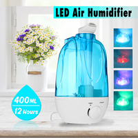 LED Night Lights Novelty Lamp With 4L Ultrasonic Humidifier Aromatherapy Diffuser Air Purifier Aroma Mist Maker Indoor Lighting