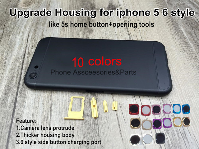 Black 10 Colors Back Housing For IPhone 5 6s Mini Upgrade