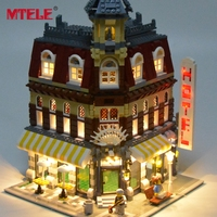 MTELE Brand LED Light Up Kit For Blocks Make Create Cafe Corner Model Toy Lepin 15002