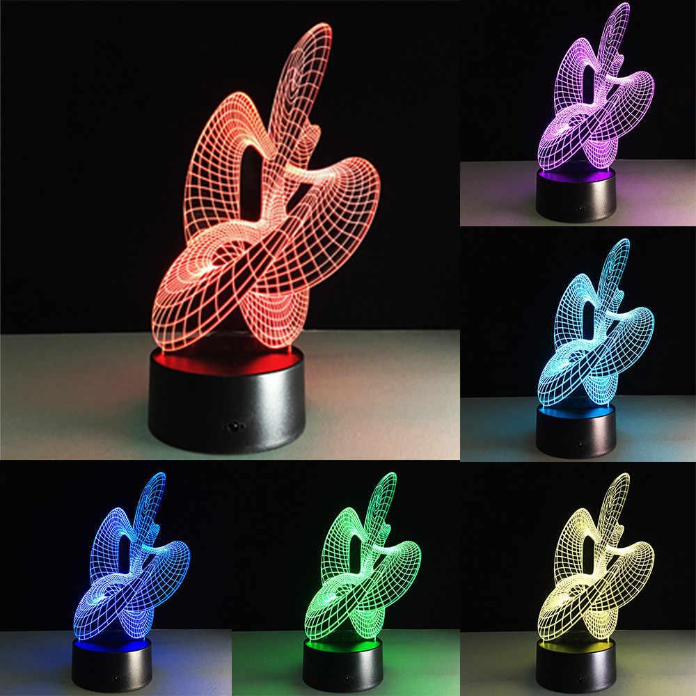 Đèn ngủ LED Kỳ Lân Hình Vòng Tròn Sạc USB 3D ảo ảnh Thị Giác 7 Màu Thay Đổi ĐÈN LED Để Bàn hình valentines day pokemon quà Tặng 2019