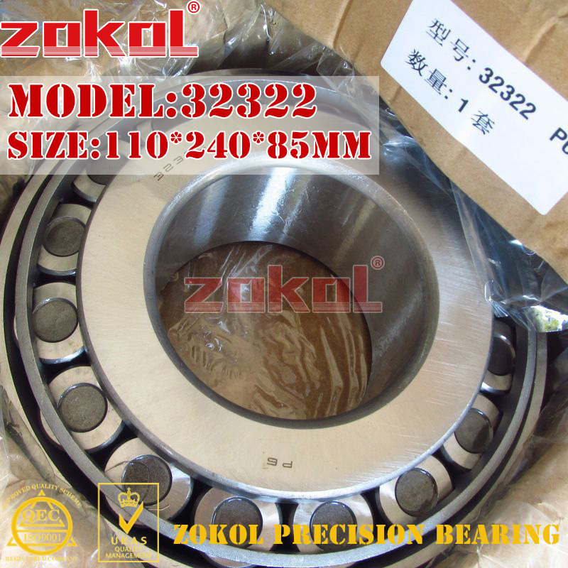 ZOKOL bearing 32322 7622E Tapered Roller Bearing 110*240*85mm zokol bearing 31310 27310e tapered roller bearing 50 110 29 5mm
