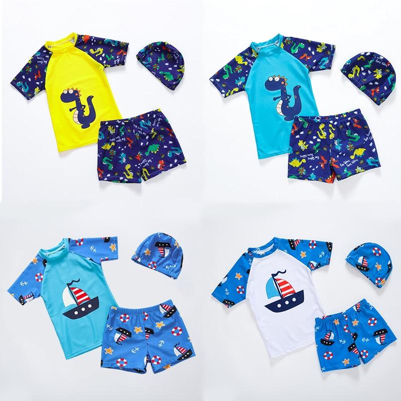 US Summer Baby Toddler Boy/'s UPF 50 Sun Protection Short Sleeve Swimwear Suits