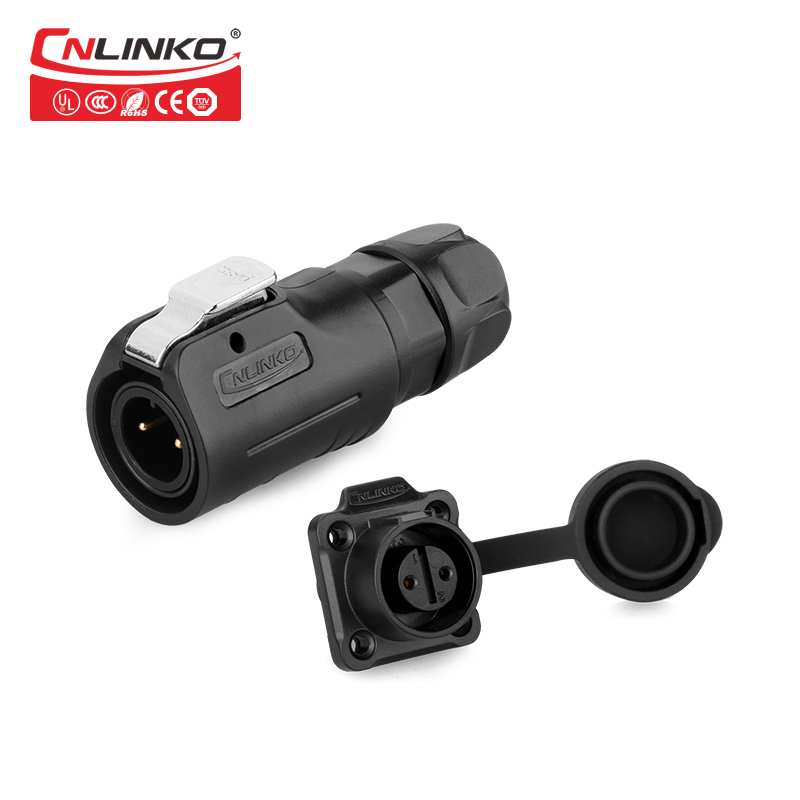 Cnlinko 2 <font><b>3</b></font> <font><b>4</b></font> <font><b>5</b></font> 6 7 8 <font><b>Pin</b></font> M12 Waterproof Industrial Connector Cable Power IP65 AC DC DIY Male Plug Female Sockets Plastic <font><b>Jack</b></font> image