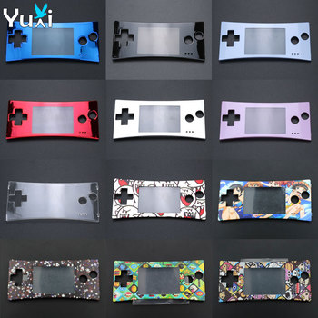 YuXi For GBM Replacement Front Faceplate Cover for GameBoy Micro System Front Case front back cover replacement for symbol mc65 mc659b